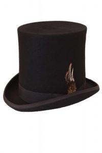 11.svart extra hög top hat