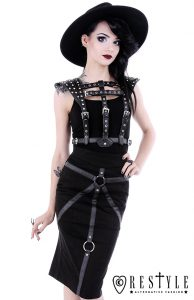 eng_pl_BONDAGE-SKIRT-Black-pencil-skirt-with-hight-waist-harness-skirt-1603_2