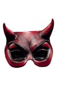 32. Brun djävulsmask med horn
