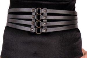 8. svart fuskskinn rem skärp