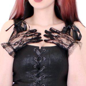 10. svarta spets handskar